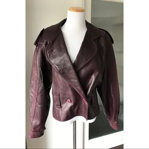 Vintage leather coat by Neto